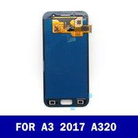 السعر الأصلي مصنع LCD لسامسونج غالاكسي A3 2017 A320 A320F كاملة شاشة LCD مع شاشة تعمل باللمس محول الأرقام الجمعية كاملة