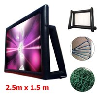 1. 33mx0. 75m 16: 9 inflatable movie screen inflatable rear pro...