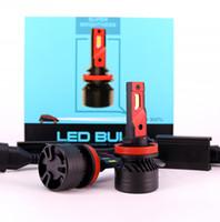 Yeni F3 LED Far H4 H13 9004 9007 90 W 20000LM Fan Araba LED Far Ampul Oto Araba LED Farlar H4 H13 Far