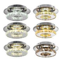 12W LED Camera da letto Plafoniera rotonda Corridoio corridoio Aisle Semplice ristorante moderno luci di cristallo
