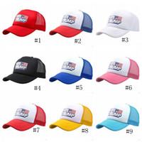 Nuovo Trump Net Cap cappelli di baseball Trump stampa VoteTrump Mesh Cap unisex informale Trump Snapback Cap Gorras LJJJ131
