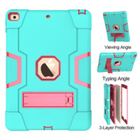 Hybrid Robot Heavy Duty Kids Case For iPad 2 4 5 Air 10.9 10.5 Pro 11 9.7 7 8.2 Samsung Tab A S6 Lite S5E T595 T830 T510 T720 P610