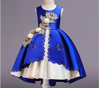 2020 In Stock Ball Gown Jewl Long Flower Girls Dress With Fl...
