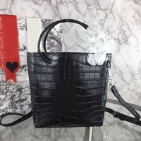 Designer-Nouveau mode de luxe de femme Sac à main Croix Sacs à bandoulière en cuir véritable crocodile sac fourre-tout haut qualité d'impression seau portable
