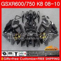 Bodys Golden Black Hot для Suzuki GSXR 600 750 GSX R750 R600 GSXR600 08 09 10 9HC.26 GSX-R750 GSXR-600 K8 GSXR750 2008 2009 2017