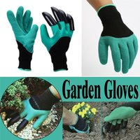 4 Paw Garden Gloves Digging Planting Genie Rubber Gloves 1 P...