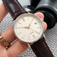 Hot style simple business high-end mechanical men's watch ordinary life waterproof with calendar sapphire crystal glass mirror needle buckle