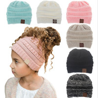 Kids Hats Woolen Knitted Beanies Hat Solid Skull Caps Fashio...