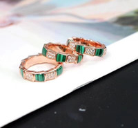 S925 Silver Luxurious style paris design women snake ring wi...