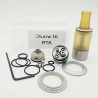 Mais novo Clone Dvarw MTL Estilo Mini 16mm RTA Rebuildable Tanque Atomizador 316 PEI de Aço Inoxidável Sistema de Fluxo de Ar Inferior Dual Post Construir Deck DHL