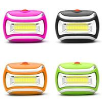Портативный мини-COB HeadLamp 800lm HeadLight Cree 3w Открытый туризм кемпинга велосипедного голова фонарик лампа A Батарея 3 режима Светильники