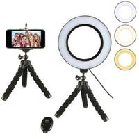 Pode ser escurecido led studio câmera anel de luz da foto do telefone lâmpada de luz de vídeo com tripés selfie anel de preenchimento da luz de preenchimento para canon nikon camera