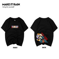 Fashion Men' s T- shirts 2019 Designer Cartoon Anime Prin...