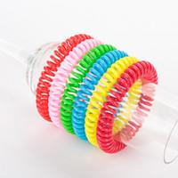 Parfum rafraîchissant naturel Wristband Chronométrage long Bracelet De nombreux types de couleurs pures Bandeaux Mosquito Control New 0 45hs C2
