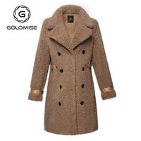 Golomise Casual Faux Double- faced Merino Sheep Fur Shearling...