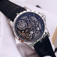 جديد Excalibur العنكبوت 46 RDDBEX0393 RD505SQ التلقائي رجل ووتش الهيكل العظمي الهاتفي الصلب حالة جلد أسود حزام الساعات watch_zone جودة عالية