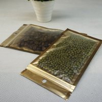 100pcs / lot innere Goldbeutel, 10.5X15CM Front matte transparentes Plastiktasche silbrige Aluminiumfolie ziplock sack Spielzeug- / Sonnenbrillen Paket