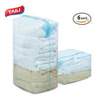 6PCS Three-Dimensional Vacuum Bags For Quilt Clothes Cube Space Saver Storage Bag Wardrobe Closet Organizer No Leak
