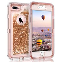 3D Glitter Quicksand Liquid Case For iPhone Xs Max XR 6 6s 7...