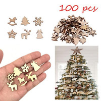 2018 Spot Christmas Cartoon Snowflake Wood Christmas Tree Christmas Trojan Deer DIY Handmade Accessories 100PCS / Bag Hebilla decorativa