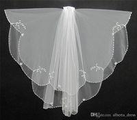 Short Wedding Veil Exquisite Cheap Bridal Veil TwoLayer With Beads Hotselling Wedding Accessories Wedding Dress Veil