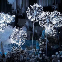 Nuovo arrivo Luminoso Dandelion Design Wedding Road Cited Lights per Party Event Dance T Station Decoration Puntelli Forniture