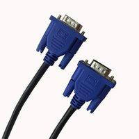 1,5 M VGA Cable de extensión HD 3 + 2 macho a macho VGA Cables de alambre de la cuerda Línea núcleo de cobre para PC Monitor Proyector