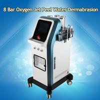 7 في 1 Lsrael Technology 8 Bar Oxygen Jet Peel Water جلدي هيدرا مكركرنت الوجه Hydradermabrasion Oxgen حاقن آلة سبا