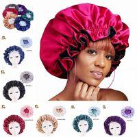 Nouveau chapeau de bonnet de soie chapeau double côté usure femme tête housse de sommeil cap capot de satin pour beaux cheveux - réveil parfait quotidien vente usine