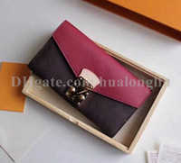 Portefeuille femme boîte d'origine le numéro de série porte-cartes en espèces de bourse de haute qualité