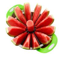 트랜스 밍 수박 야채 도구 슬라이서 커터 스테인레스 스틸 대형 크기 슬라이스 수 박 멜론 슬라이서 과일 분배기 주방 가제트
