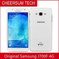 Оригинальный Samsung Galaxy J700F 5,5 дюйма 13MP RAM 1.5GB ROM 16 ГБ Двойной SIM разблокирован отремонтированный мобильный телефон DHL FreeShipping