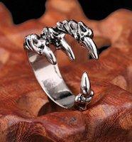 Панк хулиган мужские кольца титана стали хвост кольцо указательный палец на кольцо дракона Орел дракон коготь открытие регулируемый