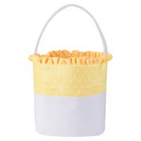 10styles Dot Osterkorb Leinwand Spitze Kaninchen Eimer Striped Welle Osterhase Tasche Baskets Kinder Süßigkeit Tote Handtaschen-Speicher-Beutel GGA3195