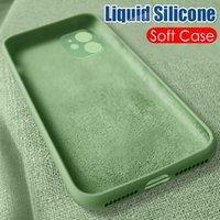 Жидкая силиконовые Оригинальный защитный чехол для IPhone 11 Pro X XR XS Max SE 2020 7 8 6 6s PLus противоударной задней крышки Мягких случаи