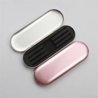 1 Pieza portable del maquillaje de pestañas Lash Pinzas Pinzas Caso caja de almacenaje del protector Cepillos Lápiz Delineador de ojos organizador del caso