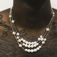 ASAP Rocky antica conchiglia naturale perline di giunzione in metallo uomini e donne collana di perle Oro Argento catena hip hop clavicola