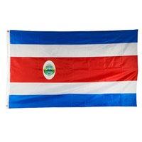 Pirinç Grometler Ücretsiz Denizcilikte ile Kosta Rika Bayrağı 3x5FT 150x90cm Polyester Baskı Kapalı Açık Asma Sıcak Satış Ulusal Bayrak