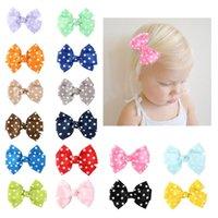 4 inch polka dot loopy boog boutique meisjes haarclips voor baby tieners kinderen mode diy grosgrain lint haarbogen