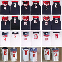 2014 USA Basketball Jersey Dream Team Eleven 4 Stephen Curry 5 Thompson 6 Derrick Rose 10 Kyrie Irving James Harden Kevin Durant National