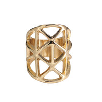 تصميم الأزياء شيك الهندسة الجوف خارج المثلث الشرير خاتم الذهب خواتم لليوم هدية الجملة Z النساء الرجال خطوبة مجوهرات عيد الحب