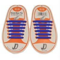 12p جيم / مجموعة الجري لا التعادل أربطة الحذاء أزياء للجنسين الرجال النساء رياضية مطاطا الحذاء سيليكون الرباط جميع احذية صالح الشريط