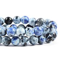 Pedra Natural Fire Dragon Veias Agates Onyx Rodada soltas Spacer Bead Para fazer jóias 6/8/10/12 mm DIY pulseira colares Verde Roxo