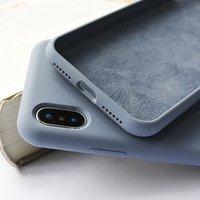 Оригинальный силиконовый чехол для Apple iPhone 7 8 Plus 6 6s полного покрытия с логотипом чехол для iphonePhone 11 Pro Max XR X XS Max случае назад