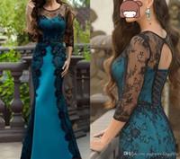 حورية البحر الرباط أم فستان العروس طويل الأكمام بالاضافة الى حجم جوهرة الرقبة ضيف حفل زفاف اللباس الطابق طول السهرة فساتين