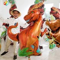 Jurassic Giant Динозавр воздушного шара фольги мальчиков-животноводы Воздушных шаров Детские Dinosaur Party День рождения украшение гелиевых шары Детские игрушка подарок Горячий