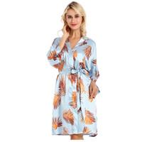 Mulheres de verão robe de cetim fino de seda roupão de banho para as mulheres quimono dama de honra de casamento peignoir sleepwear pijama robes
