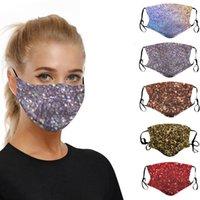 Sequin Imprimir Mascarilla lavables a prueba de polvo del respirador Equitación Ciclismo Deportes Imprimir Máscaras de moda para hombres y de mujeres RRA3175 6styles