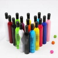 Botella plegable de la cerveza de protección del paraguas creativo ultravioleta del sol Paraguas paraguas de la manera portátil Logotipo WY65 paraguas Creative Kids regalo personalizada