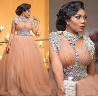 Luixury African Evening Dresses Beaded Crystal Plus Size For...